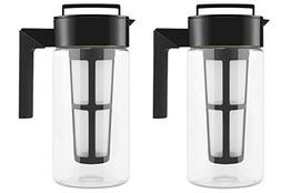 Takeya Cold Brew Iced Coffee Maker, 1-Quart, Black - 2 Pack