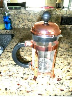 BODUM Copper FRENCH PRESS Coffee Tea Maker 8 oz. EXCELLENT