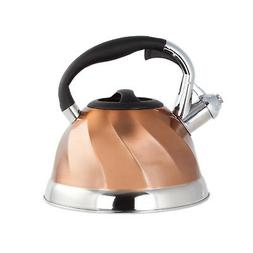 Copper Stainless Steel Whistling Tea Kettle - Tea Maker Pot