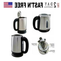 Ovente Cordless Electric Kettle 1.7L 1100W Tea Maker Hot Wat