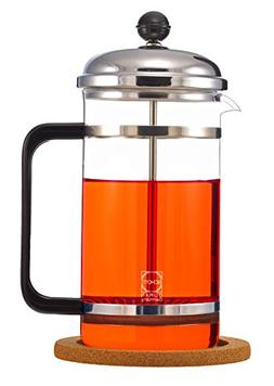 GROSCHE Denver French Press with Pyrex France Glass Beaker a