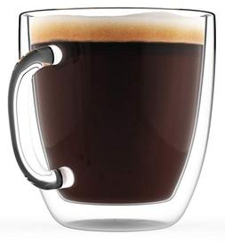 Double Wall Glass Coffee Mug 16oz - Clear, Large & Insulated