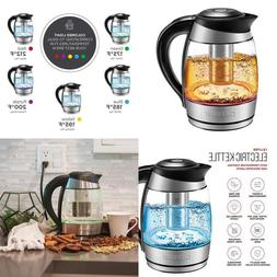 Electric Kettle With Temperature Control Glass Tea Maker And