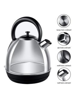 Electric Kettles Quick Boil Tea 1500Watts Durable Plus Stain
