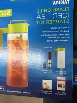 Takeya Flash Chill Iced Tea Maker Starter Kit w/ 2QT Pitcher