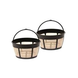 2 Pack foCuisinart GTF-B Gold Tone Coffee Filter 8-12 Cup Pe