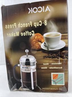 Aicok French Coffee Press Espresso Tea Maker with Triple Fil