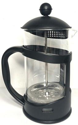 French Press Coffee and Tea Maker Glass and Plastic wi   Fil