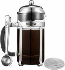 Aicok French Press Coffee Maker 34 oz/1L 8-Cup,Tea Maker, 34