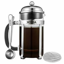 Aicok French Press Coffee Maker 34 oz/1L 8-Cup,Tea Maker, Fr