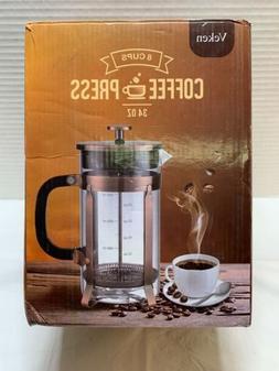 Veken French Press Coffee Maker , 304 Stainless Steel Coffee