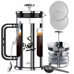 BASA French Press Coffee Maker, 34oz Coffee and Tea Makers w