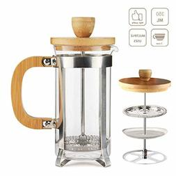 French Press Coffee Maker Tea Maker High Borosilicate Carafe