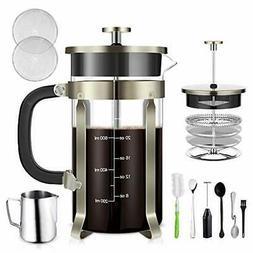 TAIKER French Press Coffee/Tea Maker  Heat Resistant Glass