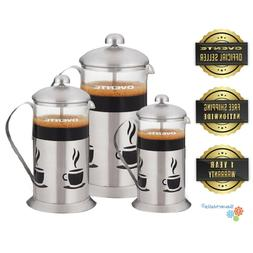 Ovente French Press, Coffee & Tea Maker, Stainless Steel, Bo