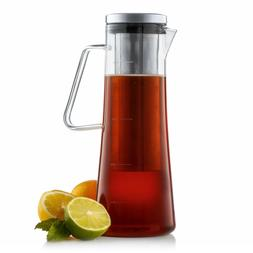 JoyJolt Fresco Cold Brew Coffee Maker, 1 Liter- 32 Ounce Gla