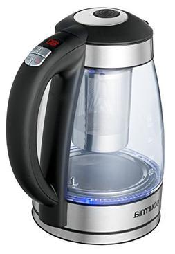 Gourmia GDK240 Glass Kettle Rapid Boil 1500 Watt, 5 Preset T