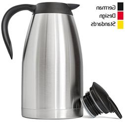 New 68 Oz  German-Designed Thermal Coffee Carafe/Stainless