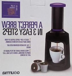 Gourmia GKCP135P Single Serve K-Cup Manual Hand French Press