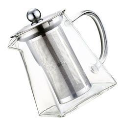 Glass Gongfu Tea Pot Tea Maker with Infuser Removable Tea Wa