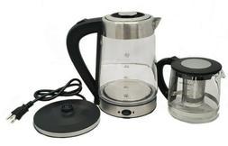 Glass Tea Maker Electric Turkish Tea Kettle Samovar with Boi