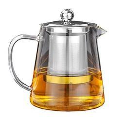 Glass Teapot Tea Kettle - OBOR Borosilicate Stovetop Safe Sm