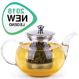 Glass Tea Pot Set - Loose Leaf Tea Pot with Infuser and Lid