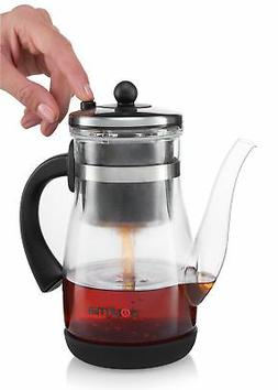 Gourmia GTP9815 Tea & Coffee Pot Glass Loose Leaf Tea Maker