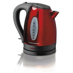 Hamilton Beach Stainless Steel 1.7 Liter Electric Kettle Tea
