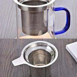 Handle 304 Stainless Steel Tea Maker Tea Filter Lid