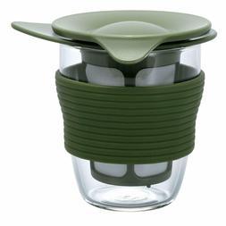 HARIO Handy Tea Maker 200ml Olive green HDT-M-OG Mug with te