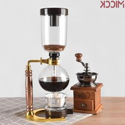 MICCK High Quality 3 Cups Syphon Pots <font><b>Coffee</b></f