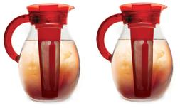 Iced Tea Cold Coffee Brewer Set of 2 Beverage Maker 1-Gallon
