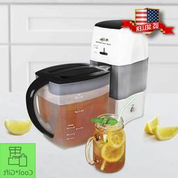 Iced Tea Maker 3 Quart Easy One-touch Brewing Fresh Tea Refr