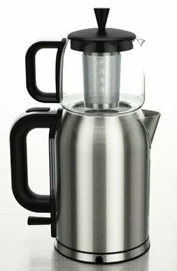 GOLDA INC. Stainless Steel Turkish Tea Maker, Samovar, Elect