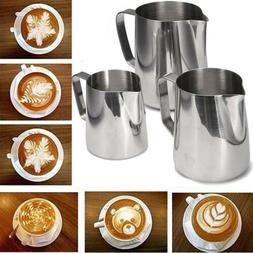 Kitchen Stainless Steel Coffee Tea Frothing Milk Latte Jug 1