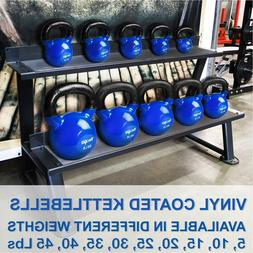 Yes4All Vinyl Coated Kettlebell Weights Set – Great for Fu