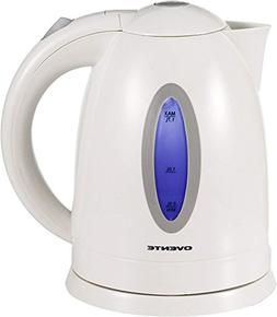 Ovente KP72W 1.7 Liter BPA Free Cordless Electric Kettle Whi