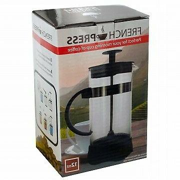 12 oz French Press Coffee and Tea Maker Filter Caffettiera c