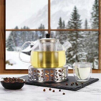2X(Stainless Tea Round Tea Base Tea Warmer Heat X1M0