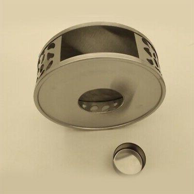 2X(Stainless Tea Warmer Round Tea Base Tea X1M0