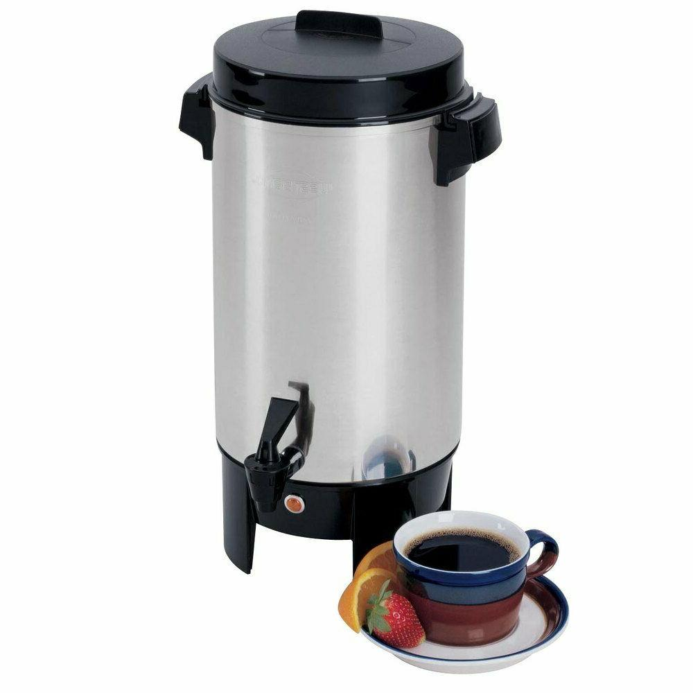 58002 highly polished aluminum commercial coffee urn