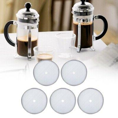 5Pcs/set Filter Mesh Screen Assembly French Coffee