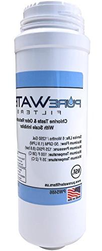 PureWater Replacement Water Filter Cartridge for Keurig B150