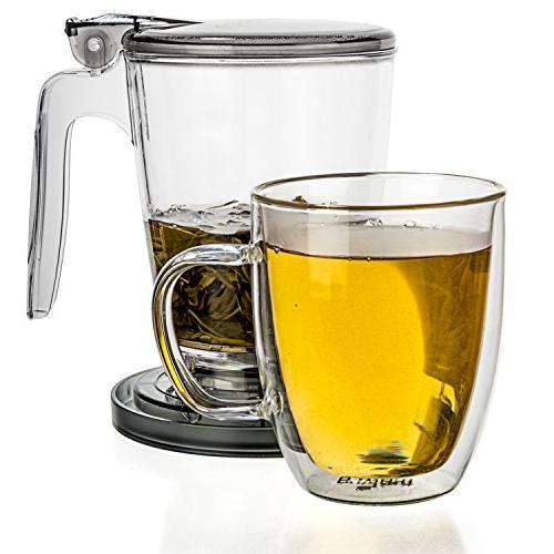 Tealyra MAKER - - Loose Tea Teapot Infuser Best Tea Makes a of Leaf Tea - Bottom Dispensing Teapot - Dripping Free Guarantee 900ml