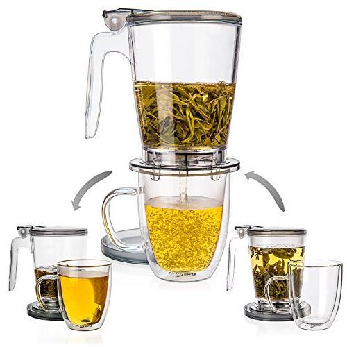 Tealyra - rapidTEA - - Tea Best a of Leaf Tea - Dispensing Teapot - Free