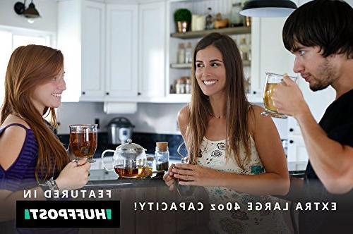 Teapot - Pot Tea Infuser Glass Tea Maker Holds Leaf Iced or Kettles Strainer Tea