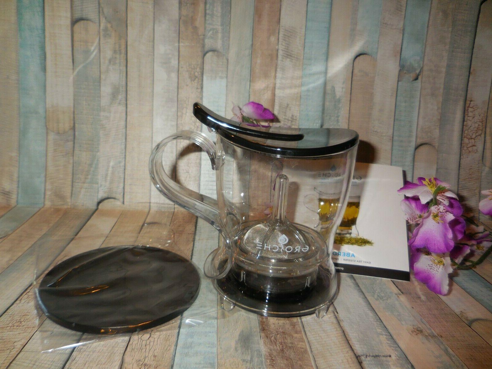 GROSCHE PERFECT MAKER Tea with coaster ~ Easy Tea Steeper