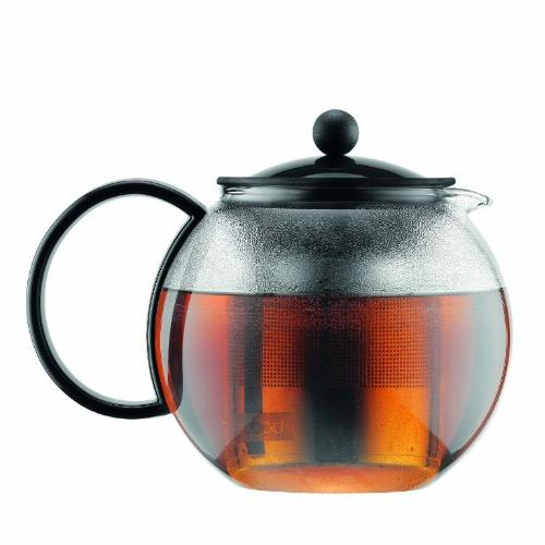 assam tea press teapot