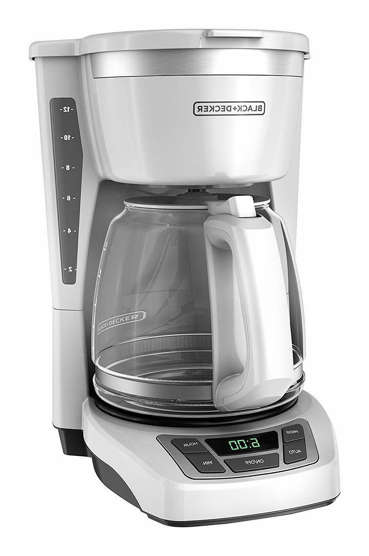 black decker 12 cup programmable coffeemaker white